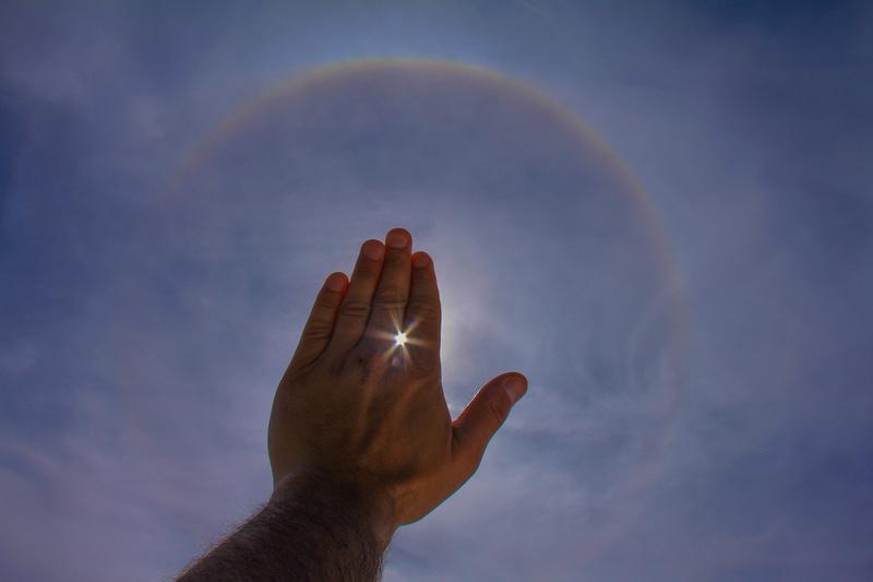 Lehman Images Sun Ring around Hand